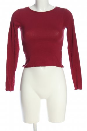 H&M Divided Cropped shirt rood casual uitstraling