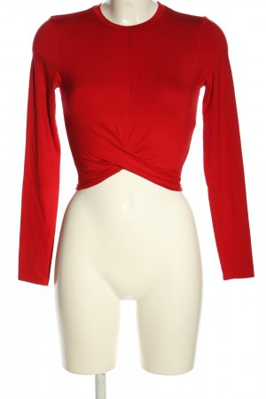 H&M Divided Cropped Shirt rot Casual-Look