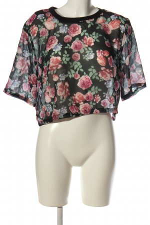 H&M Divided Cropped Shirt Allover-Druck Casual-Look