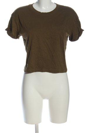 H&M Divided Camisa recortada marrón look casual