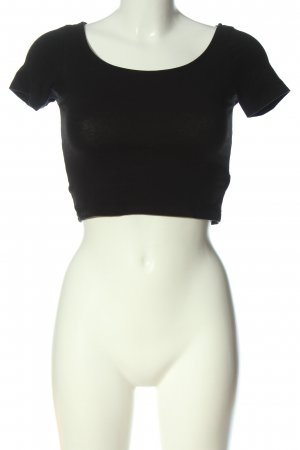 H&M Divided Cropped Shirt schwarz Casual-Look