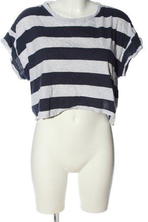H&M Divided Cropped Shirt hellgrau-schwarz meliert Casual-Look