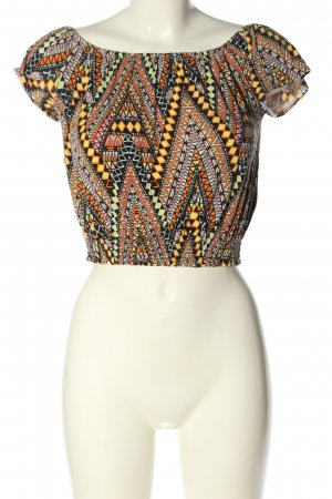 H&M Divided Cropped Shirt abstraktes Muster Casual-Look