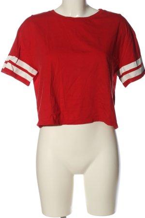 H&M Divided T-shirt court rouge style décontracté