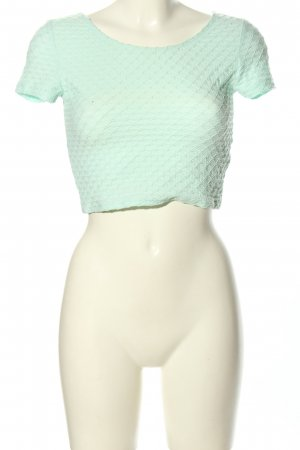 H&M Divided Cropped Shirt türkis Casual-Look