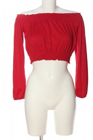 H&M Divided Cropped Top red casual look