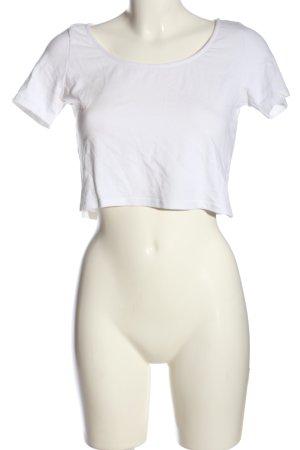 H&M Divided Top recortado blanco look casual