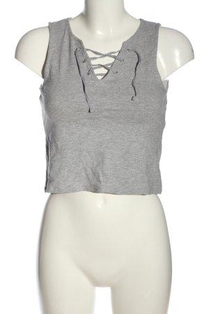 H&M Divided Top corto grigio chiaro puntinato stile casual