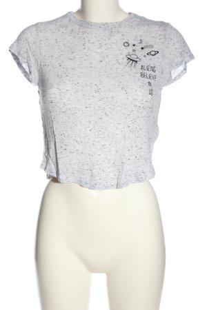 H&M Divided Top o skróconym kroju jasnoszary Melanżowy W stylu casual