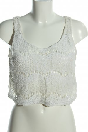 H&M Divided Cropped Top weiß Casual-Look