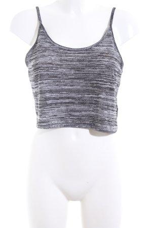 H&M Divided Top recortado negro-blanco moteado look casual