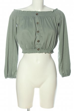 H&M Divided Cropped Top green casual look