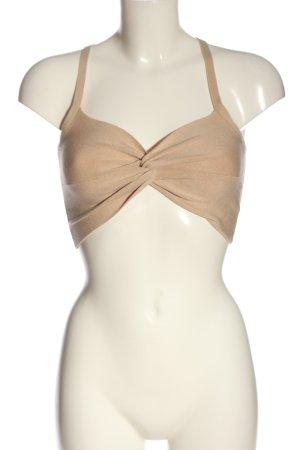 H&M Divided Top recortado nude look casual