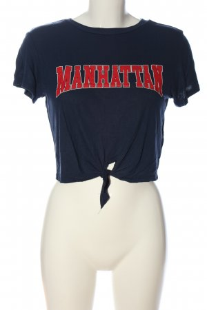 H&M Divided Cropped top gedrukte letters casual uitstraling