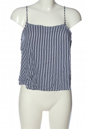 H&M Divided Top corto blu-bianco stampa integrale stile casual