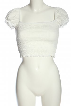 H&M Divided Cropped Top white casual look