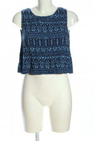 H&M Divided Cropped Top blue-turquoise allover print casual look