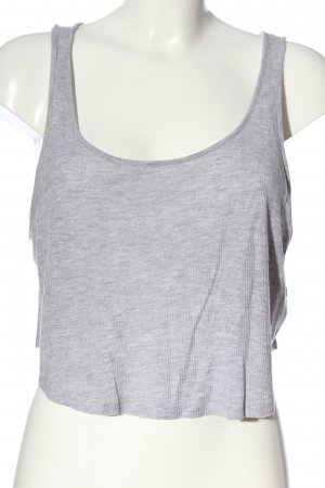 H&M Divided Cropped Top hellgrau meliert Casual-Look