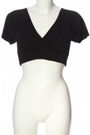 H&M Divided Cropped Top schwarz Casual-Look