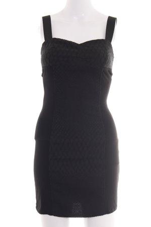 H&M Divided Cut-Out-Kleid schwarz Elegant