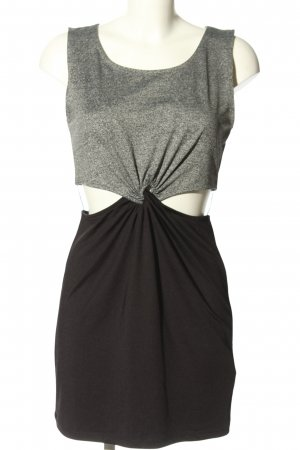 H&M Divided Vestido cut out gris claro-negro look casual