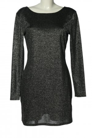 H&M Divided Cut-Out-Kleid schwarz meliert Elegant
