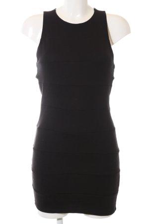 H&M Divided Cut-Out-Kleid schwarz Business-Look