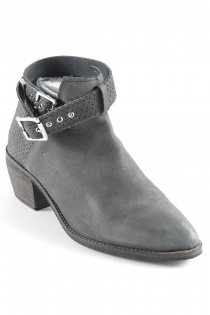 H&M Divided Cut-Out-Stiefeletten grau-grüngrau Biker-Look
