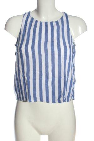 H&M Divided Top cut out azul-blanco estampado repetido sobre toda la superficie
