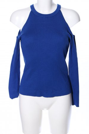 H&M Divided Cut-Out-Top blau Casual-Look