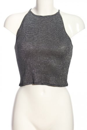 H&M Divided Cut out top zilver elegant