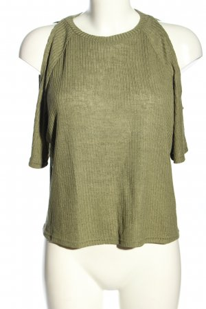 H&M Divided Cut out top khaki casual uitstraling