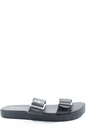 H&M Divided Comfort Sandals black casual look