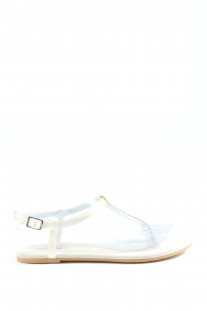 H&M Divided Sandalias Dianette blanco look casual