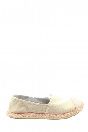 H&M Divided Espadrilles-Sandalen creme-wollweiß Casual-Look