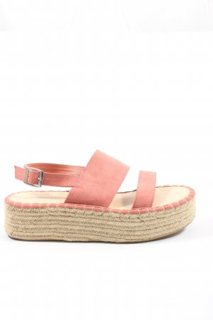 H&M Divided Espadrilles-Sandalen pink Casual-Look