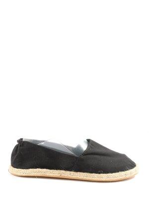 H&M Divided Espadrille sandalen zwart-nude casual uitstraling