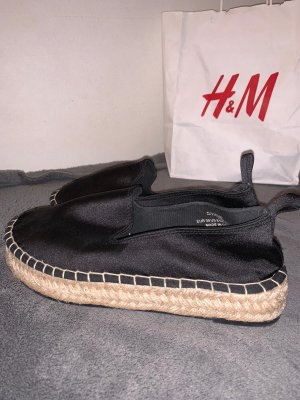H&M Divided Espadrille Sandals black
