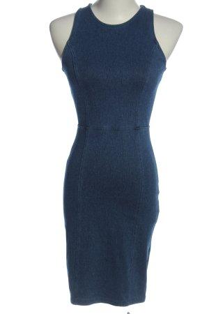 H&M Divided Etuikleid blau meliert Business-Look