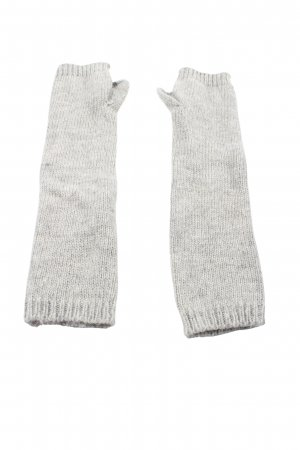 H&M Divided Mittens light grey cable stitch casual look
