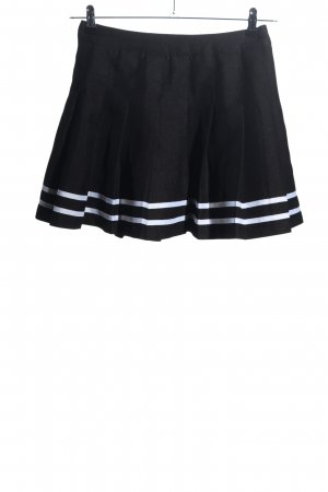 H&M Divided Plaid Skirt black-white striped pattern casual look