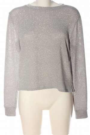 H&M Divided Fine Knit Jumper light grey-silver-colored flecked casual look