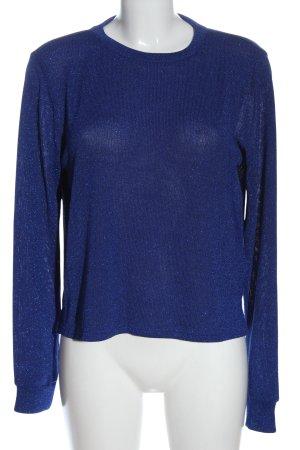 H&M Divided Feinstrickpullover blau meliert Casual-Look