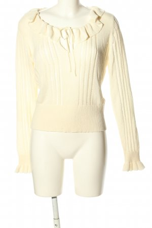 H&M Divided Fine Knit Jumper cream cable stitch casual look