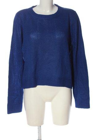 H&M Divided Feinstrickpullover blau Casual-Look