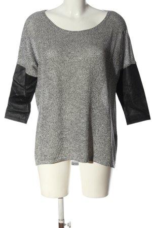 H&M Divided Fine Knit Jumper light grey-black flecked casual look