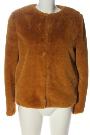 H&M Divided Fur Jacket brown casual look