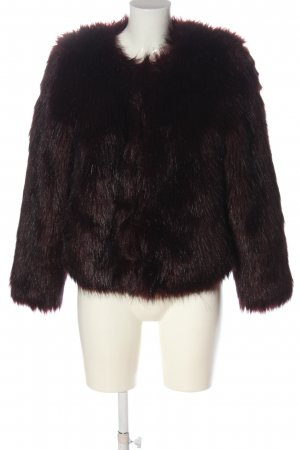 H&M Divided Fur Jacket red casual look