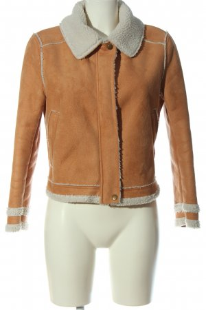 H&M Divided Fur Jacket light orange-white casual look