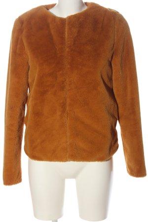 H&M Divided Fur Jacket light orange casual look